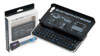 Teclado Bluetooth para iPhone 5 con cubierta protectora en negro