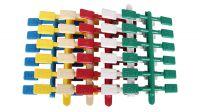 Etiqueta plástica en colores surtidos