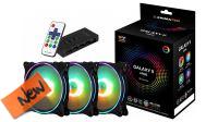 Kit controlador Galaxy II ARGB Pro ventilación RGB, 3 Vent,  con mando IR